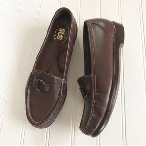 SAS Dark Brown Leather Loafers Comfort Shoes